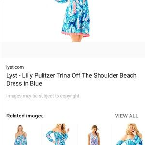 Lilly Pulitzer Dresses - Lilly Trina beach dress! Hey Bay Bay print